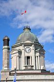 stock photo of old post office  - Bell Tower of Old Quebec City Post Office in Upper City  - JPG