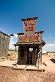 stock photo of wild west  - Old western style saloon - JPG