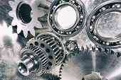 image of mechanical engineering  - cogwheels - JPG