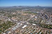 foto of piestewa  - Midtown aerial view in Phoenix Arizona from 7th Avenue and Indian School Road - JPG