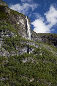 image of fjord  - Waterfall in the Lysefjord - JPG