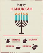 stock photo of hanukkah  - Vector Infographics of famous symbols for the Jewish Holiday  Hanukkah - JPG