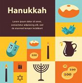 pic of hanukkah  - Vector illustrations of famous symbols for the Jewish Holiday  Hanukkah - JPG