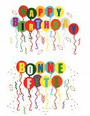stock photo of bonnes  - Bilingual balloons - JPG