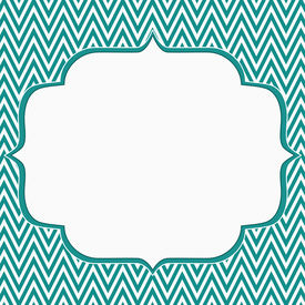 image of chevron  - Teal and White Chevron Zigzag Frame Background with center for copy - JPG