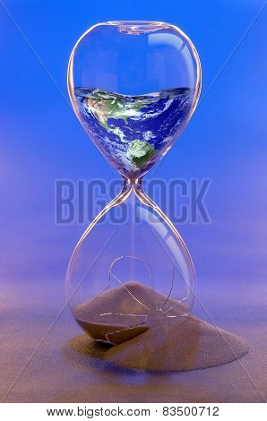 Earth in a Broken Hourglass Concept image. Earth Image by NASA