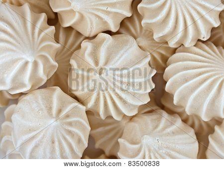 Meringue Cookies Background
