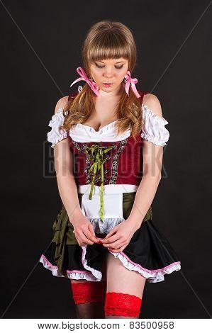 modest sexy woman Oktoberfest