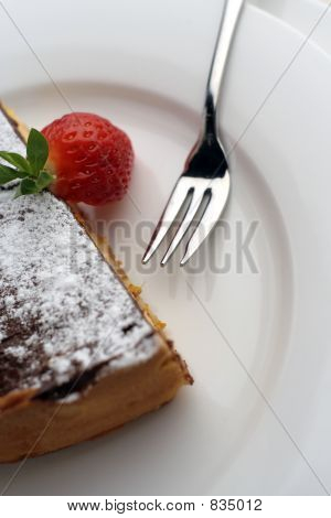 Strawberry and Chocolate dessert with fork