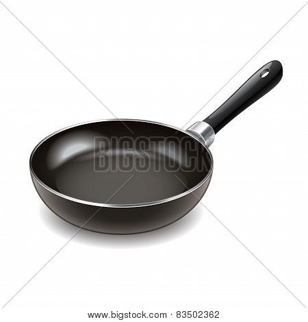 Frying Pan Isolated On White Vector