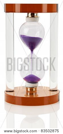 Modern Hourglass On The White Background