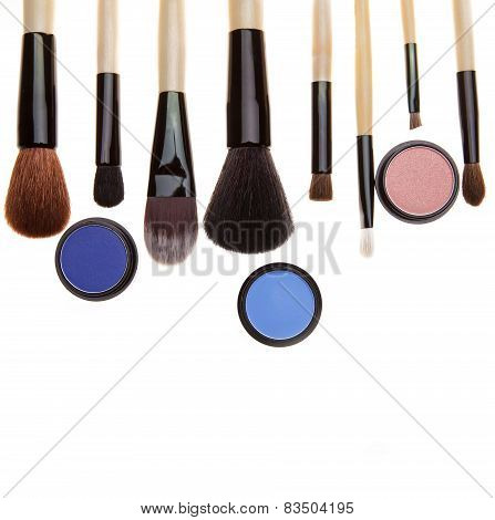 Eye Shadows And Brushes