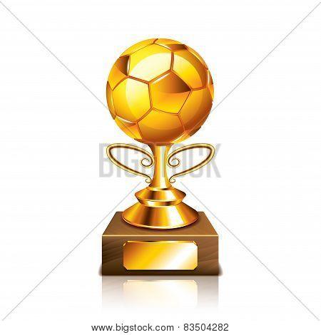 Golden Ball Figurine Isolated On White Vector