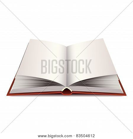 New Opened Book Isolated On White Vector