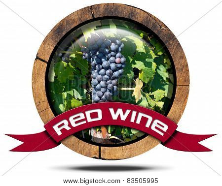 Red Wine - Wooden Icon