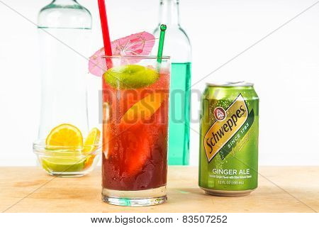 Ginger Ale And Tequila Cocktail