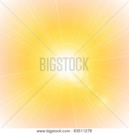 Sun Sunburst Pattern With Sun Flare