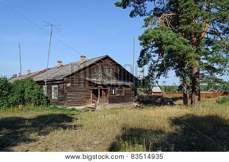 Old Wooden Hut In The Village