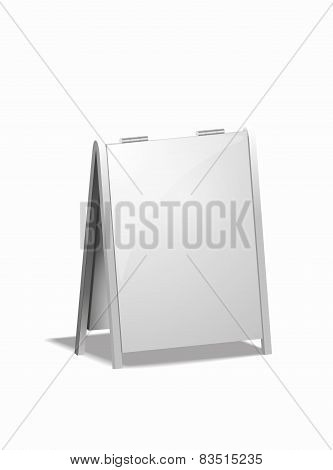 isolated advertising board