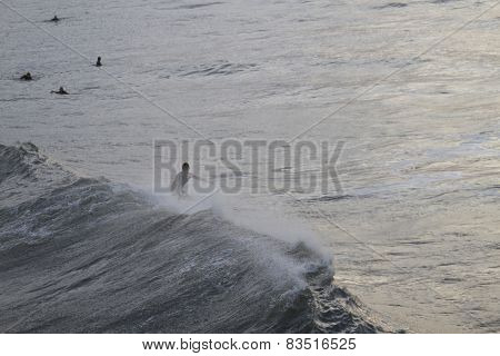 Surfing Choppy Ocean Waves