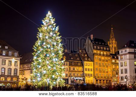Christmas Tree In Strasbourg,