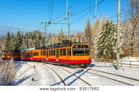 Zurich S-bahn On The Uetliberg Mountain - Switzerland