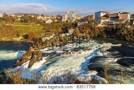 Rhine Falls In Schaffhausen - Switzerland