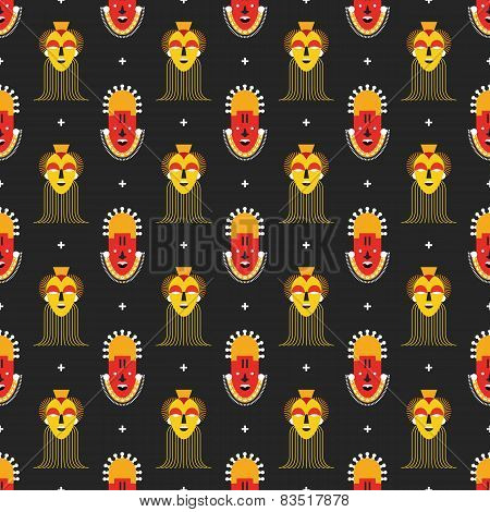 African masks pattern