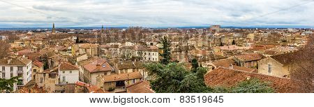 Panorama Of Medieval City Avignon In France