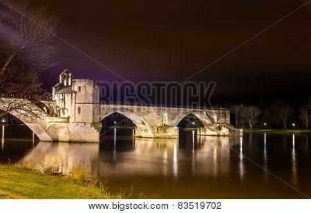 Pont Saint-benezet In Avignon, A World Heritage Site In France