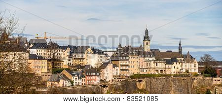 Panoramic View Of Luxembourg City