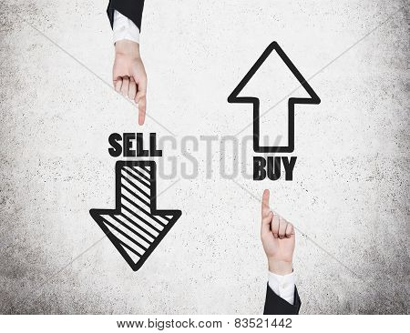 Sell And Buy Arrows