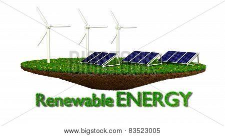Wind Generators and solar panels - renewable energy