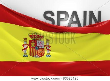 Spain flag and country name