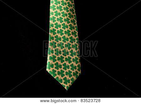 Shamrocks On Necktie