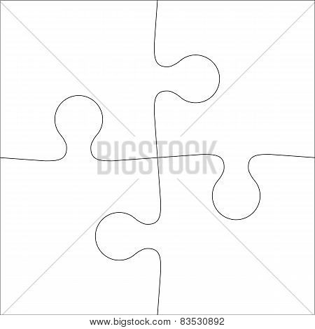 Background Vector Illustration jigsaw puzzle of four pieces