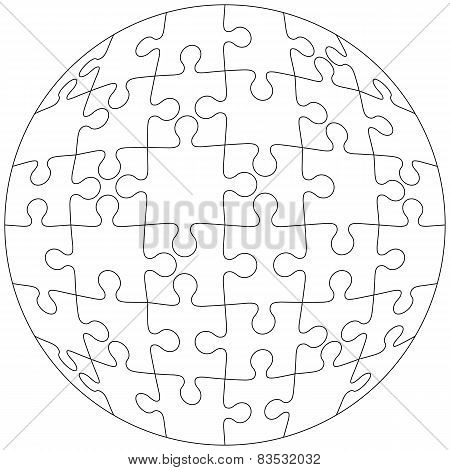 Background Vector Illustration jigsaw puzzle form  white ball