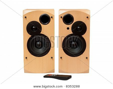 Wooden Acoustic System With Remote