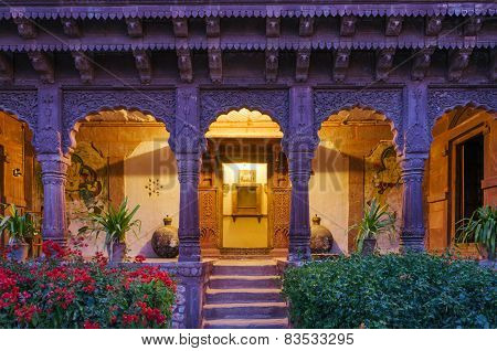 Entrance Of Ancient Palace In Jodhpur