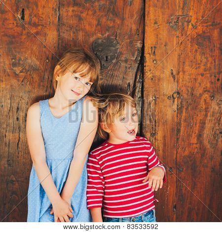 Cute kids outdoors