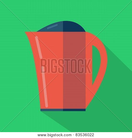 Modern flat design concept icon. Kettle tea and Coffee makers. V