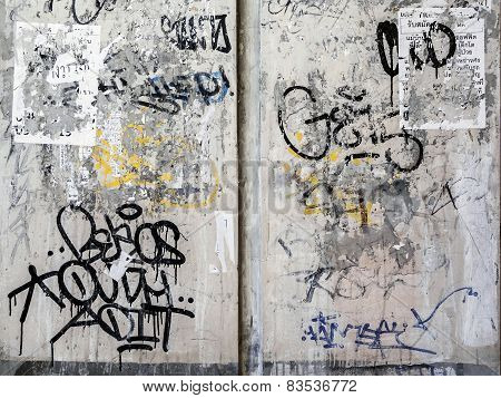 Grunge Wall Texture Background In Bangkok