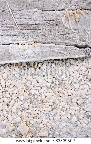 Wood Covered With Salt
