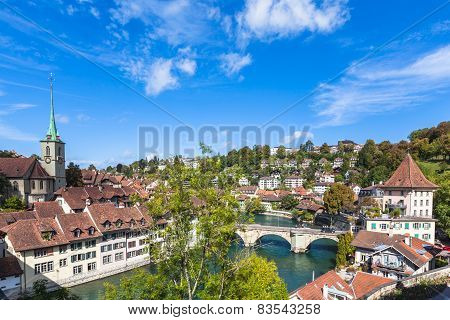 View On The Bridge In Berne
