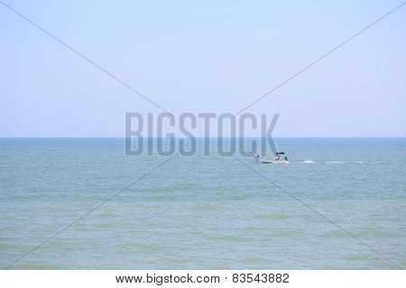Small Fishing Boat At Phetchaburi, Thailand