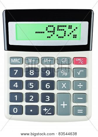 Calculator With -95