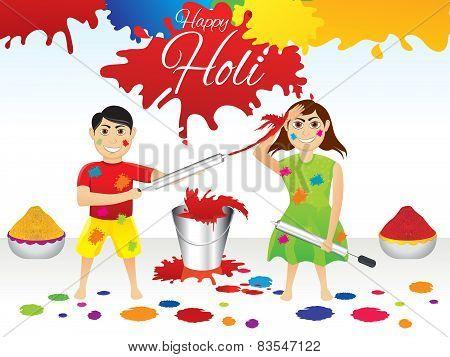 Abstract Artistic Holi Splash Background