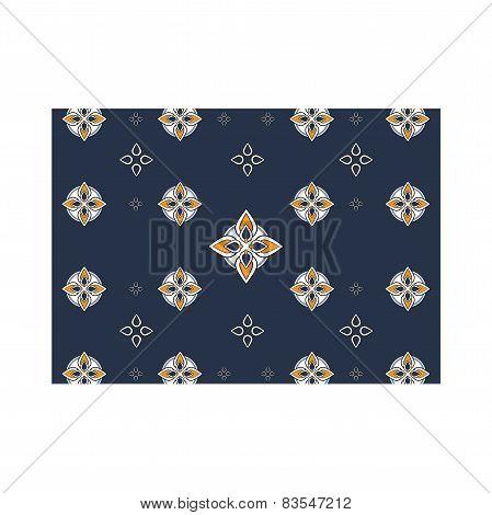 Pattern blue mosaic