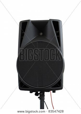 Large Powerful Audio Speakers Isolated On White Background
