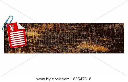 Banner With Scratches Background